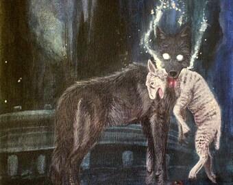 Beware of the Wolf Print