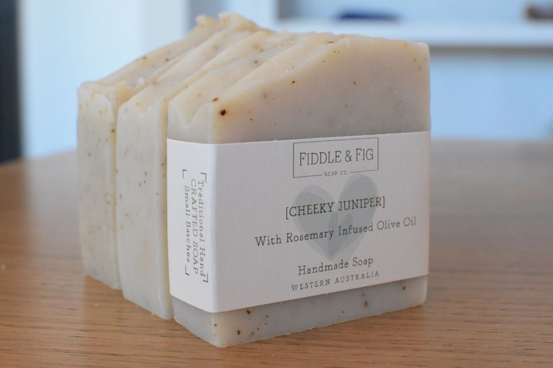 27fa38713af30 Rosemary & Juniper Soap / Exfoliating Soap Bar / Hand Crafted Soap / 100%  Natural / Hand Soap / Men's Soap / Gardener's Hand Soap /