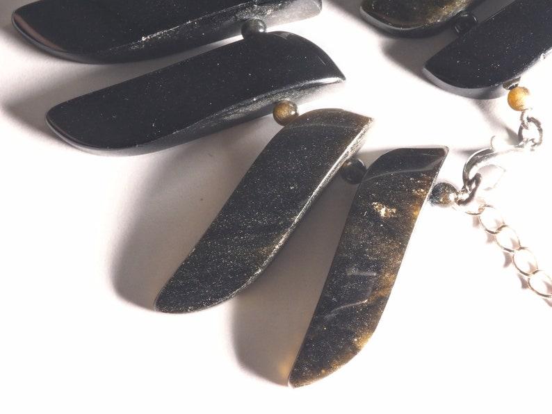 Golden Obsidian beaded necklace