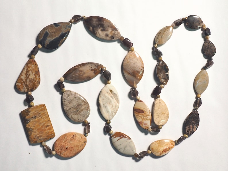 Petrified Palm Wood Beaded Necklace