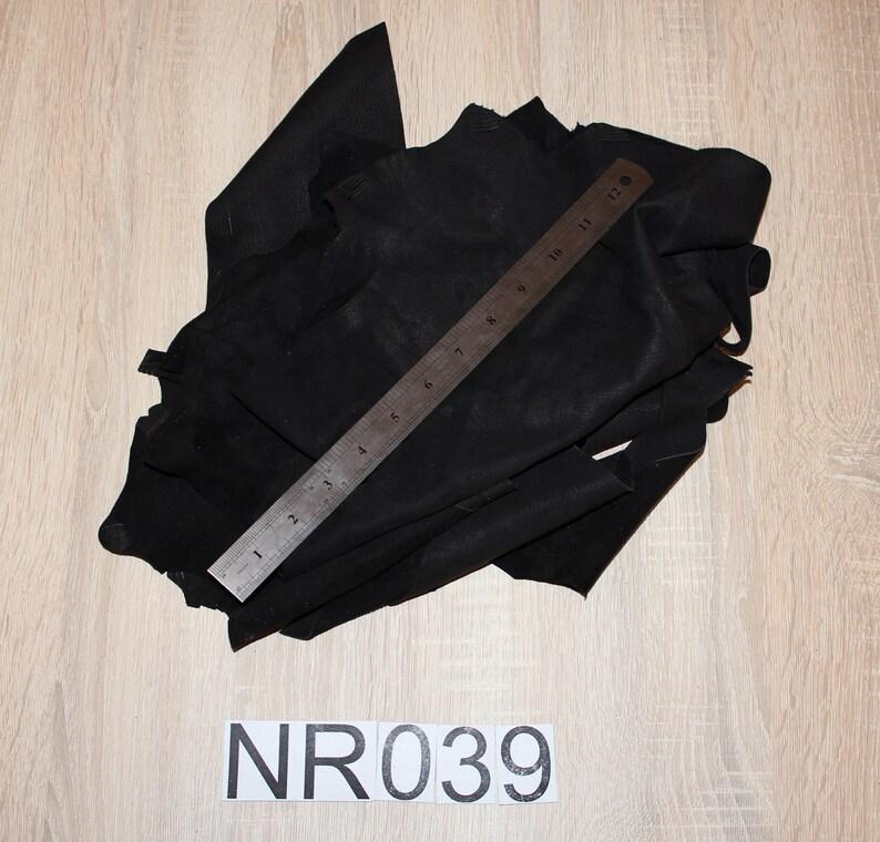Black leather scraps,labm skin soft scraps culf leather scraps black leather 190g -NR039 sheep leather leathercraft supplies