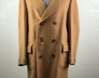 Vintage  Richman Brothers International Double Breasted Winter Coat size 42 Regular Mede in Yugoslavia