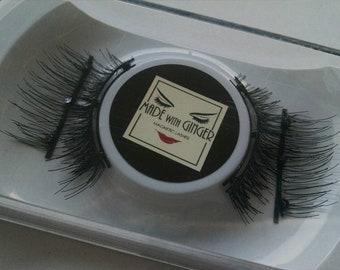 Spring Fling Handmade Magnetic Eyelashes 12mm length, 1 inch wide