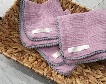 Lilac with mini grey pom pom trim *ready to post comforters