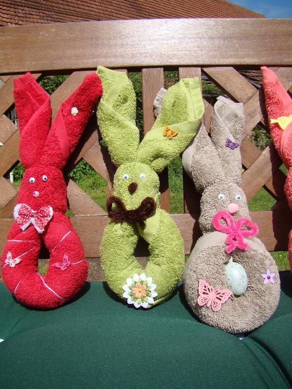 Joli Pliage De Serviette De Bain En Forme De Lapin Towels Rabbit