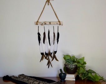 Boho Wall Hanging Dream Catcher Natural Feather