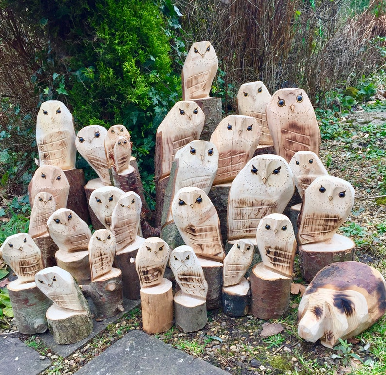 Chainsaw carvings stump brother bears twinkles and rick