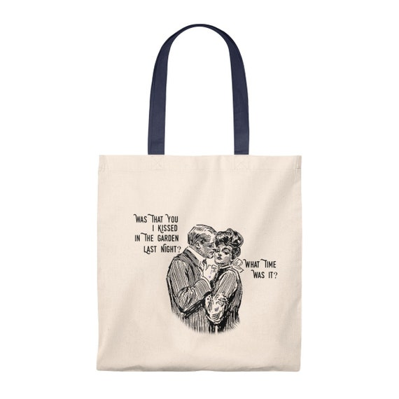 5c0ab4ad397f Kiss Romance Love Funny Gift Canvas Tote Bag Library Bag Book Bag Shopping  Bag Grocery Bag
