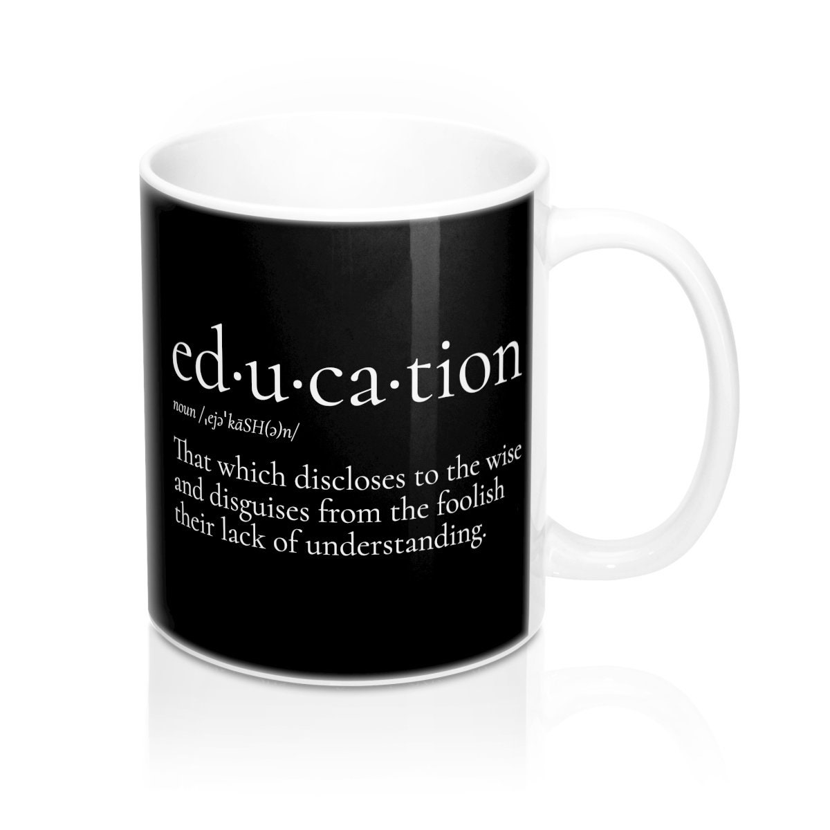 education definition mug 11 oz snarky sarcastic funny | etsy
