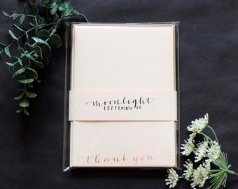 Blush & Gold Thank You Notes