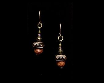 Steampunk themed dangle earrings