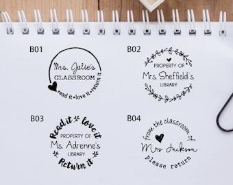 book stamp etsy