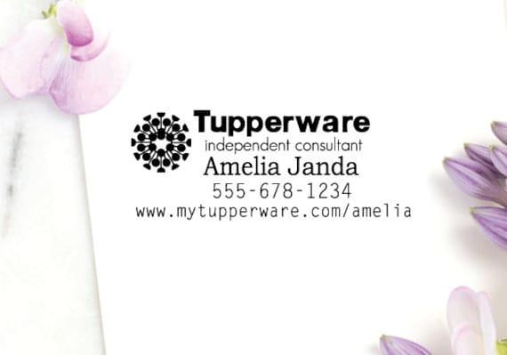 Tampon Entreprise Tupperware Consultant