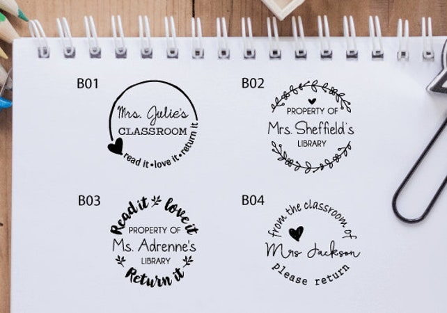 customized teacher stamp personalized teacher classroom etsy