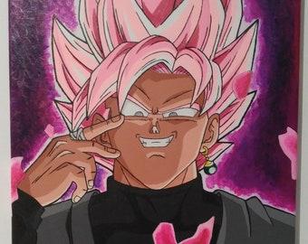 Canvas-Goku Black SSJRose-SUPER DRAGON BALL
