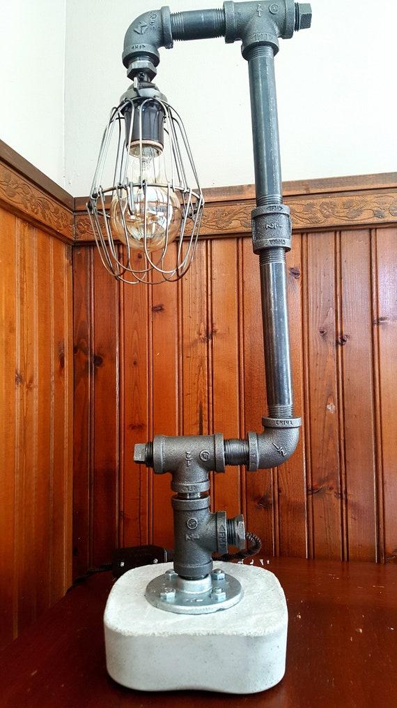 Tubo D Acciaio Artigianali Lampada Tubo Steampunk Arte Industriale Illuminazione Tubo Illuminazione Qualità Vintage Edison Illuminazione Desk Lamp