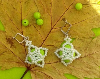 beaded spring earrings