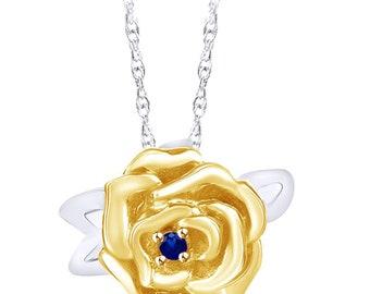 SwaraEcom 14K Yellow Gold Plated Round Cut Cubic Zirconia Knot Cross Design Pendant Summer Sale