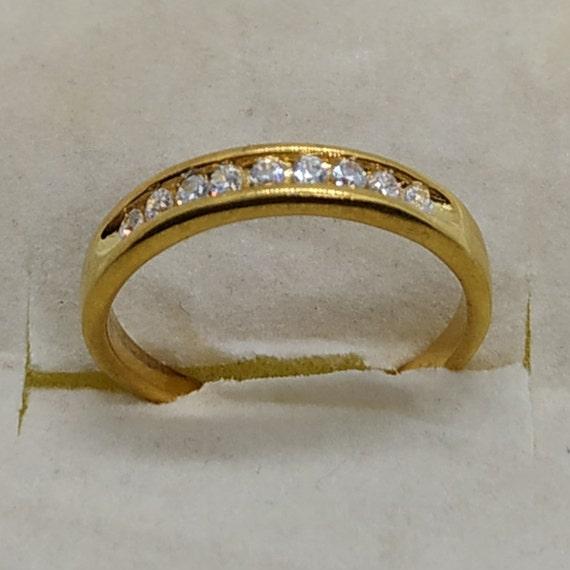 1 Ct Round Cut Sim Diamond 10K Yellow Gold Finish Hoop Earrings