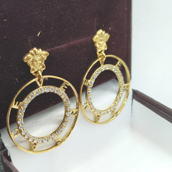 14K Gold Plated Small Medusa Head Stud Earrings Fashion Jewelry Unisex