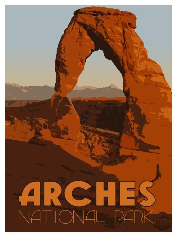 Arches National Park Utah United States America Travel Advertisement Art Poster