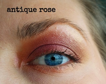 Rose - bronze - gold color-shifting, multichrome eyeshadow.
