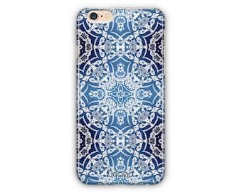 Blue Mocaic Pattern Phone Case / Mocaic Phone Cases For iPhone 6 Plus / iPhone 7 Plus Case / iPhone 8 Case / Samsung S7/S8 Plus Case