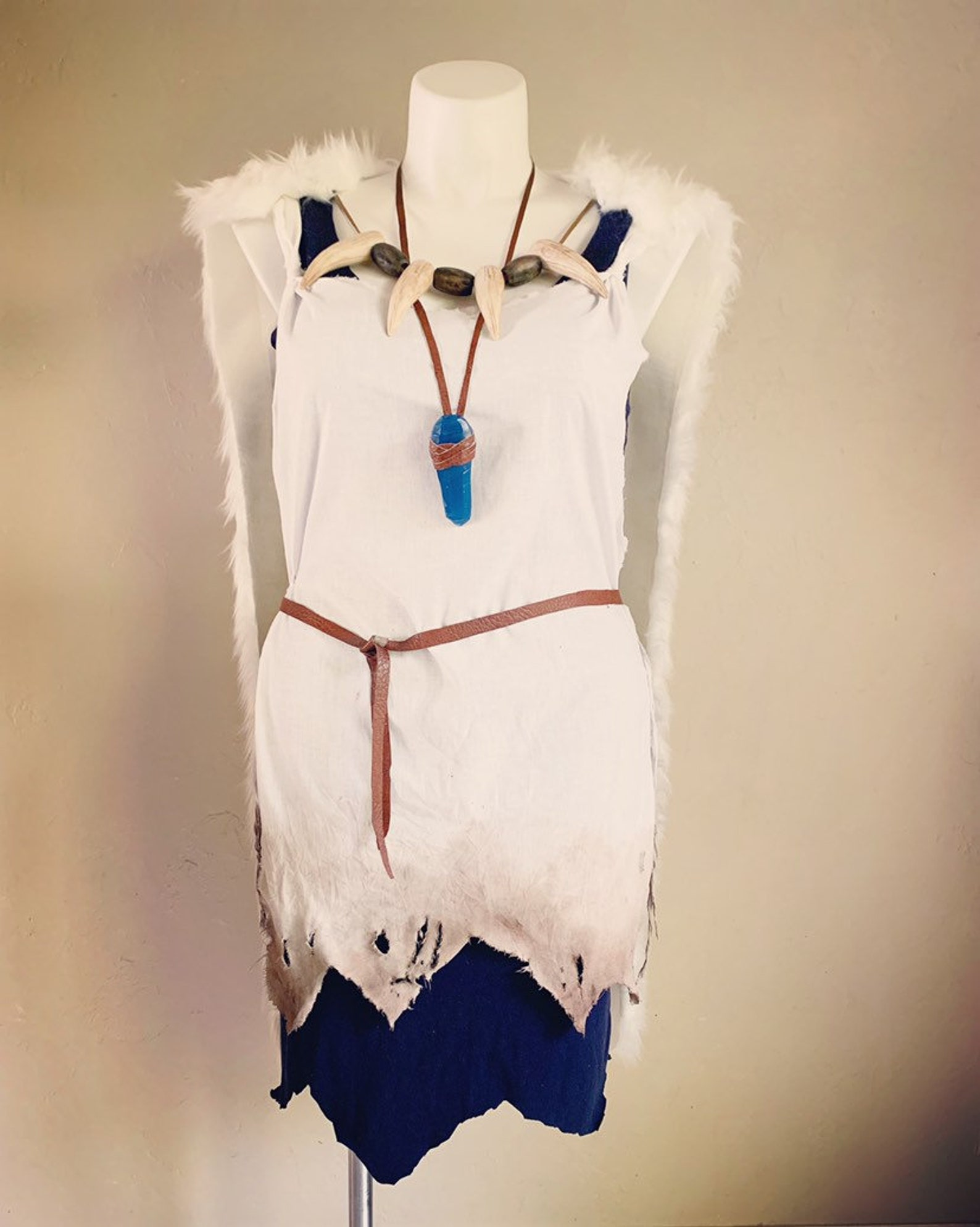 Princess Mononoke cosplay cape and necklace