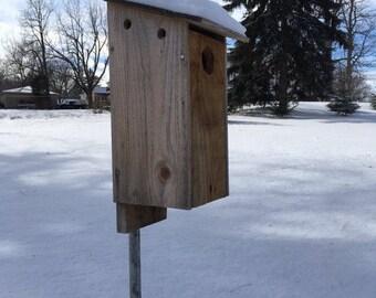 Rustic Birdhouse, Eastern Bluebird Nest House