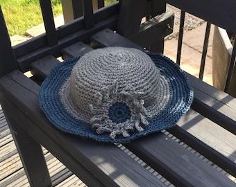 Crochet Jute Twine Sun Hat