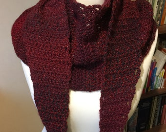 Crochet Tapered Scarf