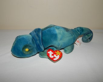 a8db66c639e Ty Beanie Baby Retired Rainbow The Chameleon 1997