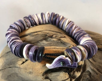 Martha's Vineyard Clasp beaded Bracelet