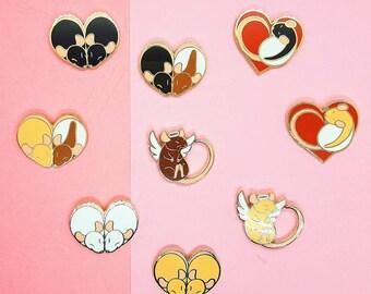 Heart Rats Hard Enamel Pins