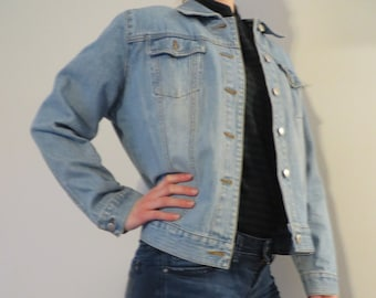 5cc40952c7 Vintage St. John s Bay Jean Jacket Vintage Jean Jacket Vintage Light Wash  Jean Jacket 90 s Jean Jacket
