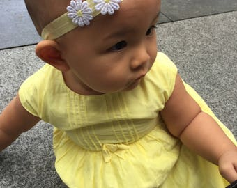 Baby headband - Yellow Daisy