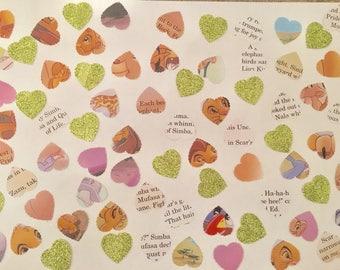 100 handmade Disney Lion King confetti