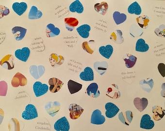 100 handmade Disney Cinderella confetti