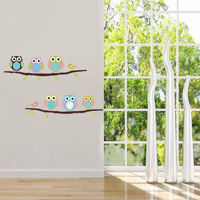 Removable Home Decoration Nursery Decor Cute Cartoon Owl Wall Decals Baby Kids Bedroom Wall Stickers Animal Wall Sticker For Baby Girls Boys Wall Decals Murals Home Living Safarni Org