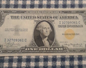 1935-A North Africa WW2 Emergency Issue Silver Certificate Yellow Seal