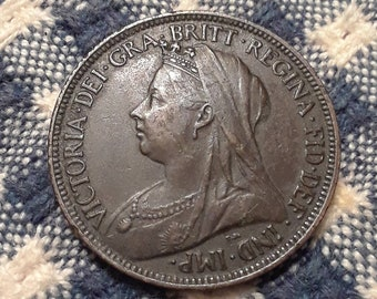 1896 Victorian 1/2  Penny (XF)