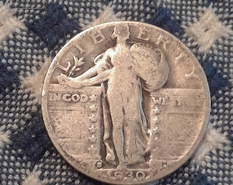 1930-S Standing Liberty  90% Silver US Quarter Depression Era