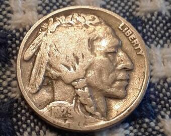 1929 Buffalo Nickel (VG) Depression Era