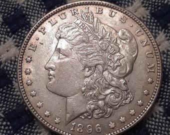 1896 Morgan Silver Dollar AU