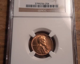 1946 D Lincoln Wheat Cent NGC Graded MS66 RD