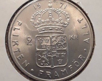Sweden 1971 2 Kronor (BU)
