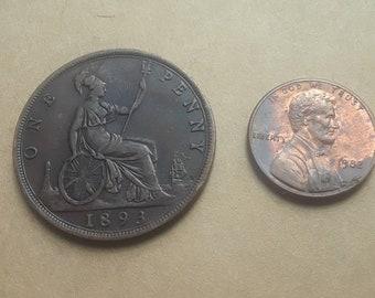 1893 British  Large Penny