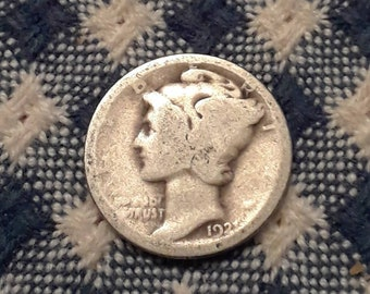 Key Date! 1921 Mercury Head Silver Dime Rare