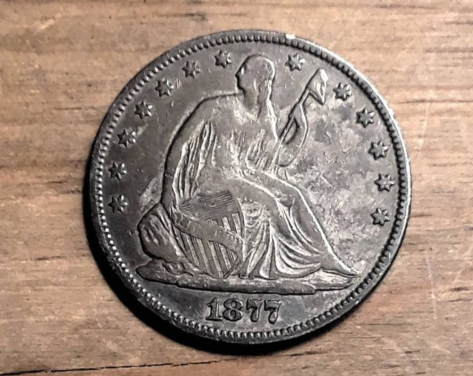 Featured listing image: 1877 Liberty Seated  Half Dollar