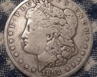 1892-O Morgan Silver Dollar Very Fine